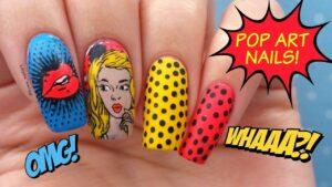 Xu hướng vẽ Nail Pop Art - Móng tay nghệ thuật đại chúng đẹp nhất cho bạn cho mùa này